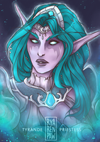 [WoW] Tyrande Whisperwind by Ryarenpaw