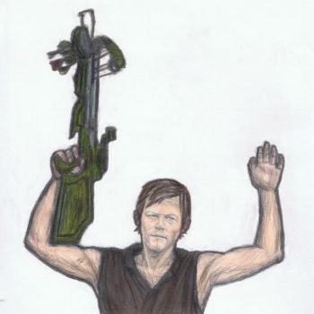 Daryl Dixon surrenders by gagambo