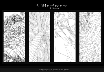 6 Wireframes + 2 Bonus by Cp-kun