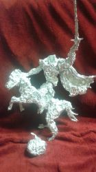 Headless Horseman - Aluminum Foil Sculpture by TheFoilGuy