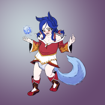 Daily Regress - Ahri (League of Legends) by Ar-Kayn