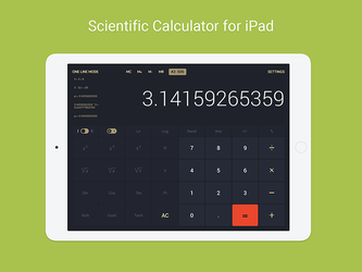 Calculator for iPad Interface by deepdesign