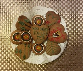 Gingerbread 2017 .4 - Arrow and Archery cookies by The-Black-Panther