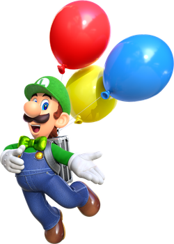 Luigi With His Balloons by USANintendo