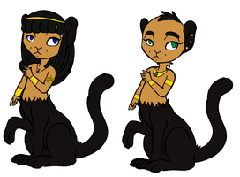 Sphinxtaurs for WereWolf39 by RoseandherThorns