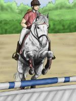 Showjumping by KnifeInToaster