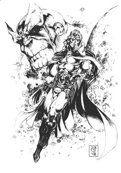 WARLOCK and THANOS by Mich974