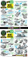 How to draw NEWSPAPERS tutorial by STUDIOBLINKTWICE