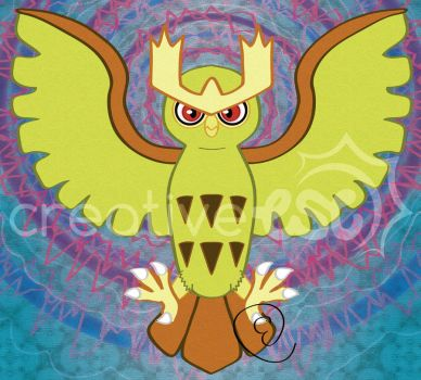 Noctowl used Extrasensory! by EmersonWolfe