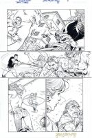 TEEN TITANS #88 Pg 5 WONDER GIRL Nicola Scott $75 by DRHazlewood