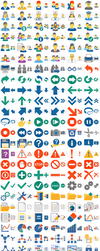 Hot Flat Icons by toolbaricons2000
