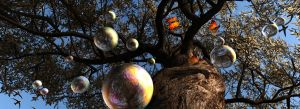 Dreaming while blowing soap bubbles to the sky ... by 3DVitality