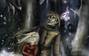 Gabriel and Falahil widescreen by calthyechild