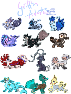 Griffin Adoptables - finally closed by JB-Pawstep