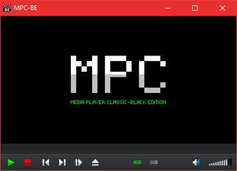 Simple logo and toolbar for MPC-BE by The-Choo-Choo-Shoe
