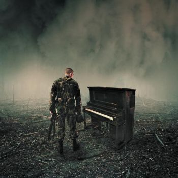 Soldier and a piano by marokin2