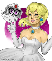 Peach and Tiara by champion1012