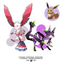 EEVEELUTIONS FAKEMON  by Trainerlouie