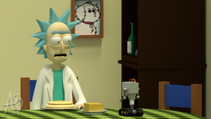 [BLENDER] Rick and Morty - You pass butter by AnthonyBlender