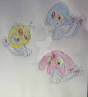 Baby Mesprit, Azelf, and Uxie