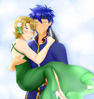 .: Art Trade - Ike x Link :. by Darkie4Eva