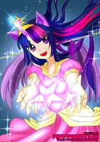 Princess Twilight Humanized- Print by Techycutie