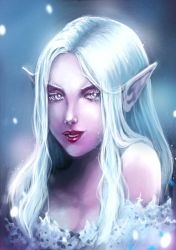 Ice fairy portrait by DancingWitch