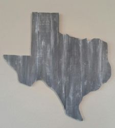 First Texas shaped reclaimed wood project. by gensanity