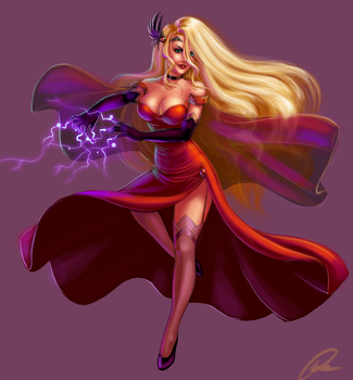 Final-project- Red Witch by GravityArchangel