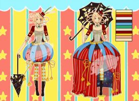 Circus Adoptable [AUCTION-CLOSED] by paimon-adopts