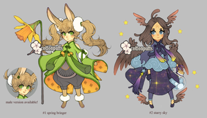 Adopts Auction: Earth and Sky (closed) by cottonpuffs