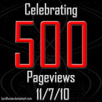 500 Pageviews :D by LucidFusion