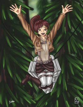Attack on Titan Sasha by Yunsildin