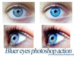 Bluer Eyes Photoshop Action by ToxicActions