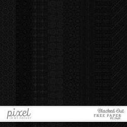 Blacked Out // Papers by pixelinmypocket