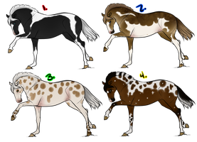 Adoptables - Natural Thoroughbreds by kryptooxx