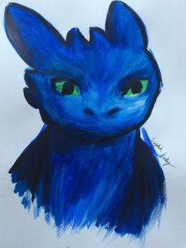 Toothless by ChristyFluffball