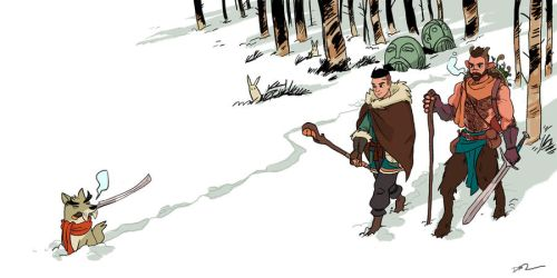 26 Trek Through The Snow Forest by tohdraws