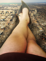 Giantess Alyssa Lays on her Land by dochamps