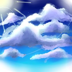 Sky Painting by AngelHiime