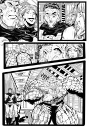 Fantastic Four Sequential Sample artwork page 2 by brianrobinson