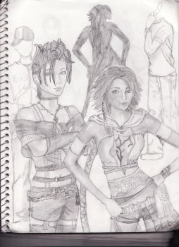 FFX-2 Characters by pirate-sparrow1380