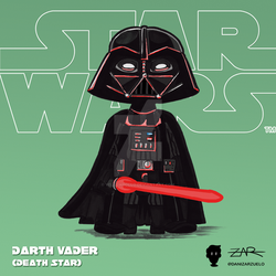 Starwars 004 Darth Vader ANewHope DeathStar by yellowpollo