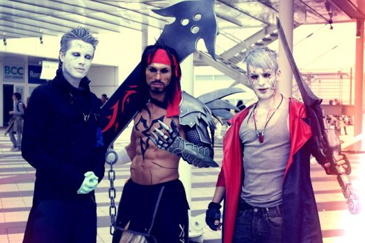 Friendship Cosplay - Dante, Vergil and Jecht by LC by LeonChiroCosplayArt