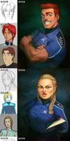 Space Crew Then and Now by MisterCrowbar
