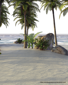 Free Stock PNG:  Tropical Island by ArtReferenceSource