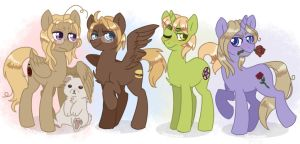 F.A.C.E family as ponies by Daxratchet