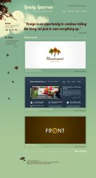 Lonely Sparrow Website Layout by Neochron