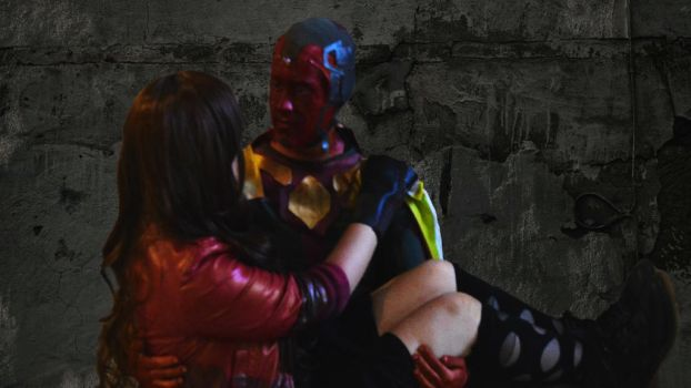 The Vision and the Scarlet Witch Cosplay Avengers2 by WaylonPark29