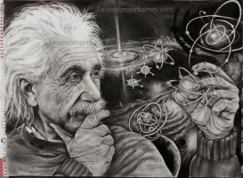 Einstein by jamesdangerharvey